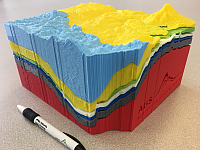 Peace River geological model printing file