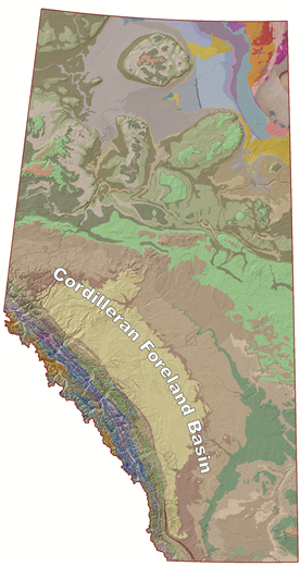 Cordilleran Basin Map