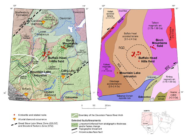 Kimberlite Map