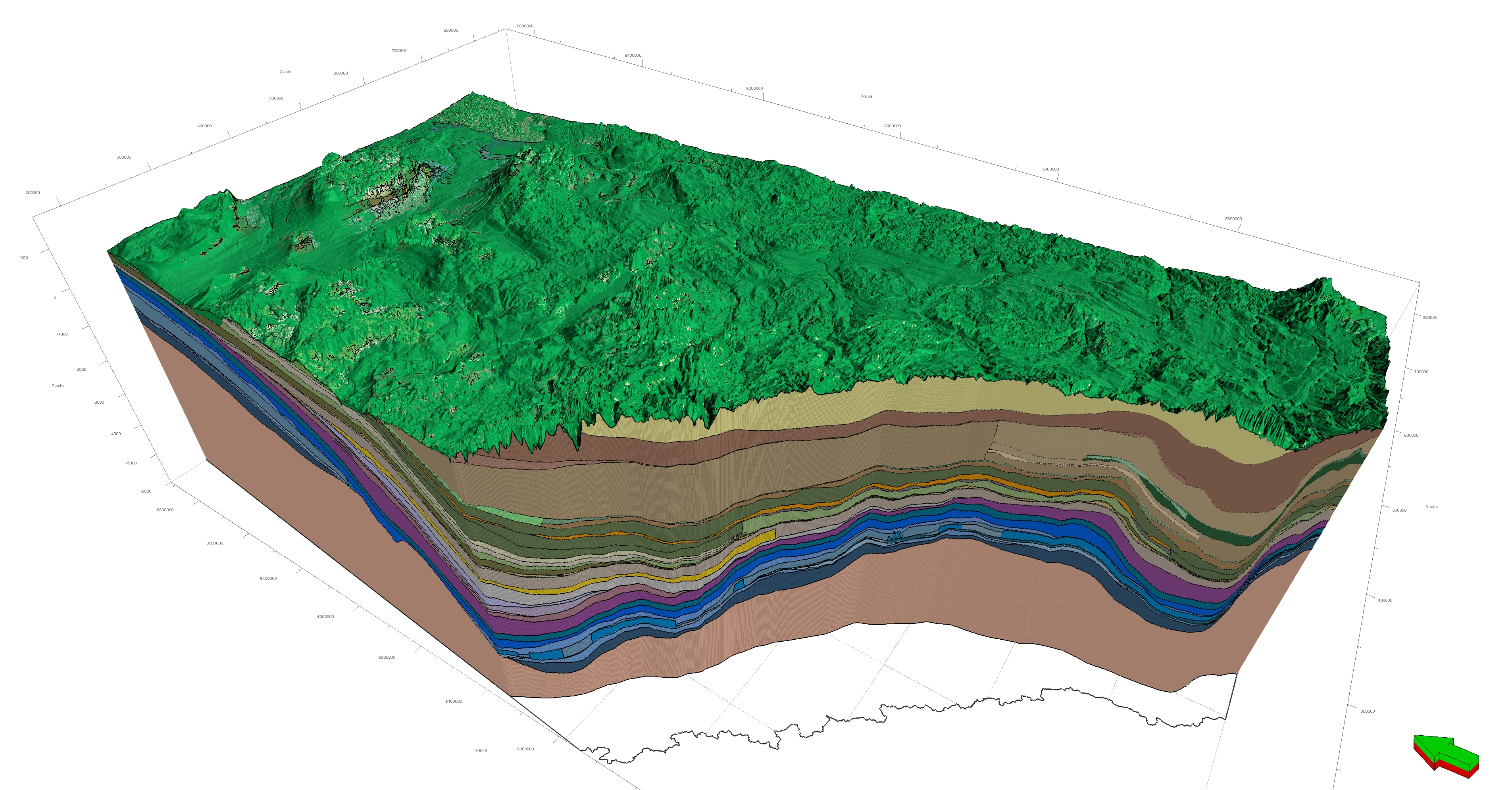3D Provincial Geological Framework v.2 with sediment