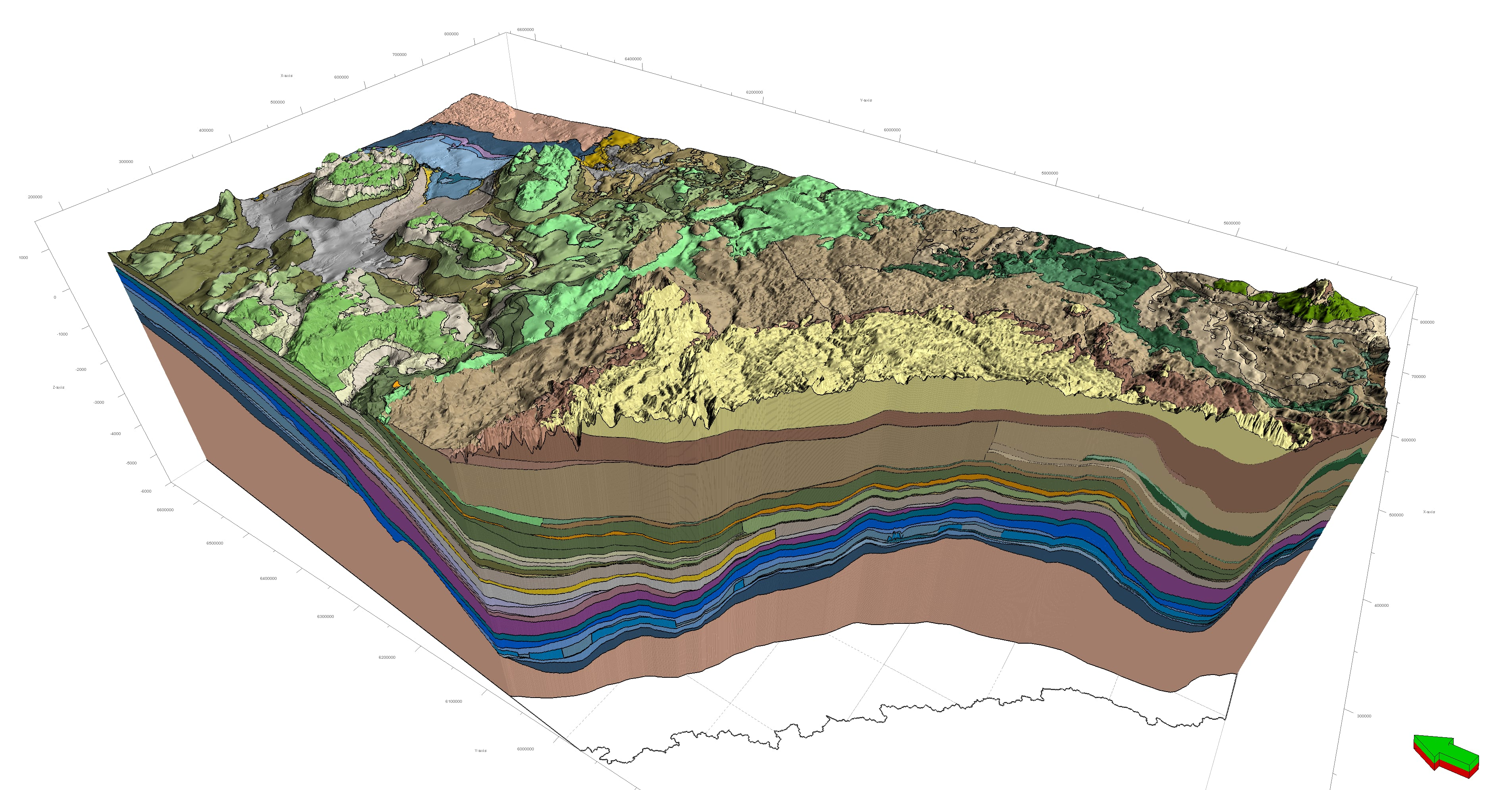 3D Provincial Geological Framework v.2 - no sediment