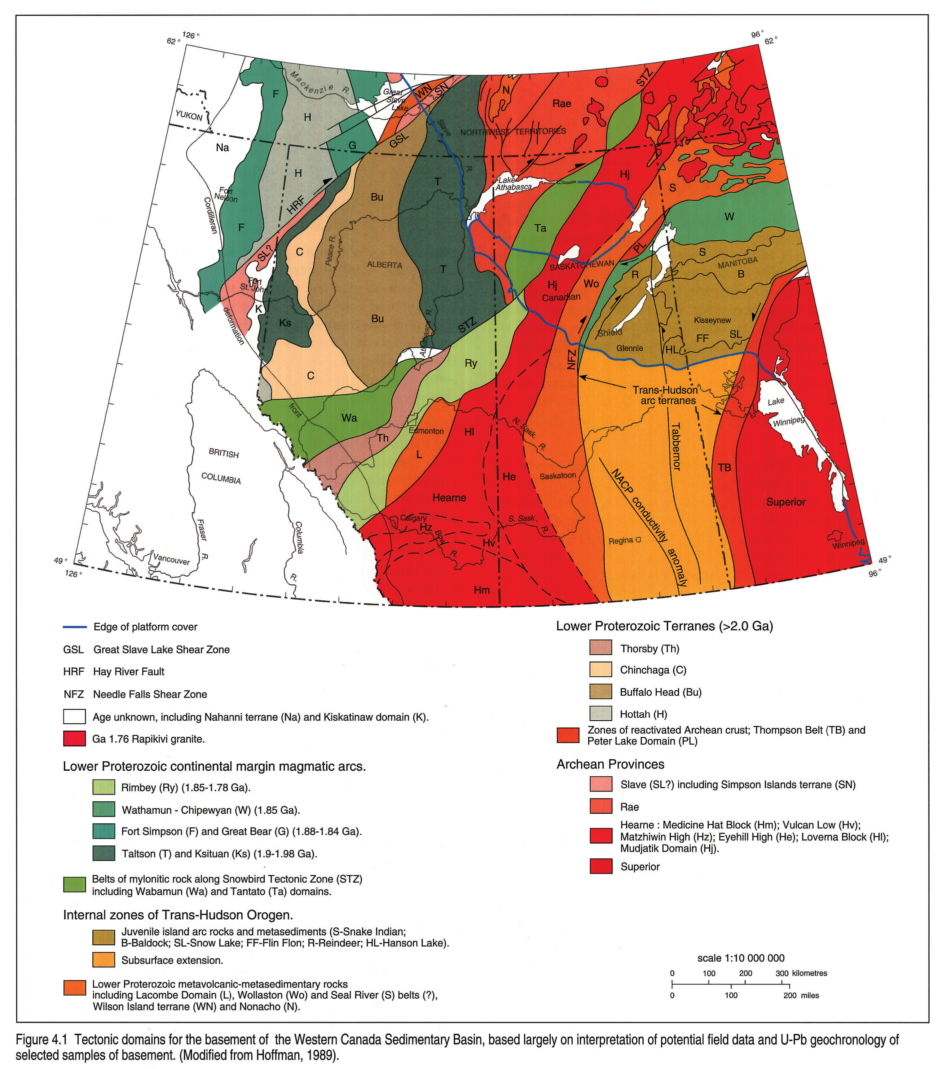 Chapter Potential Fields And Basement Structure - Map of the us canadian shield