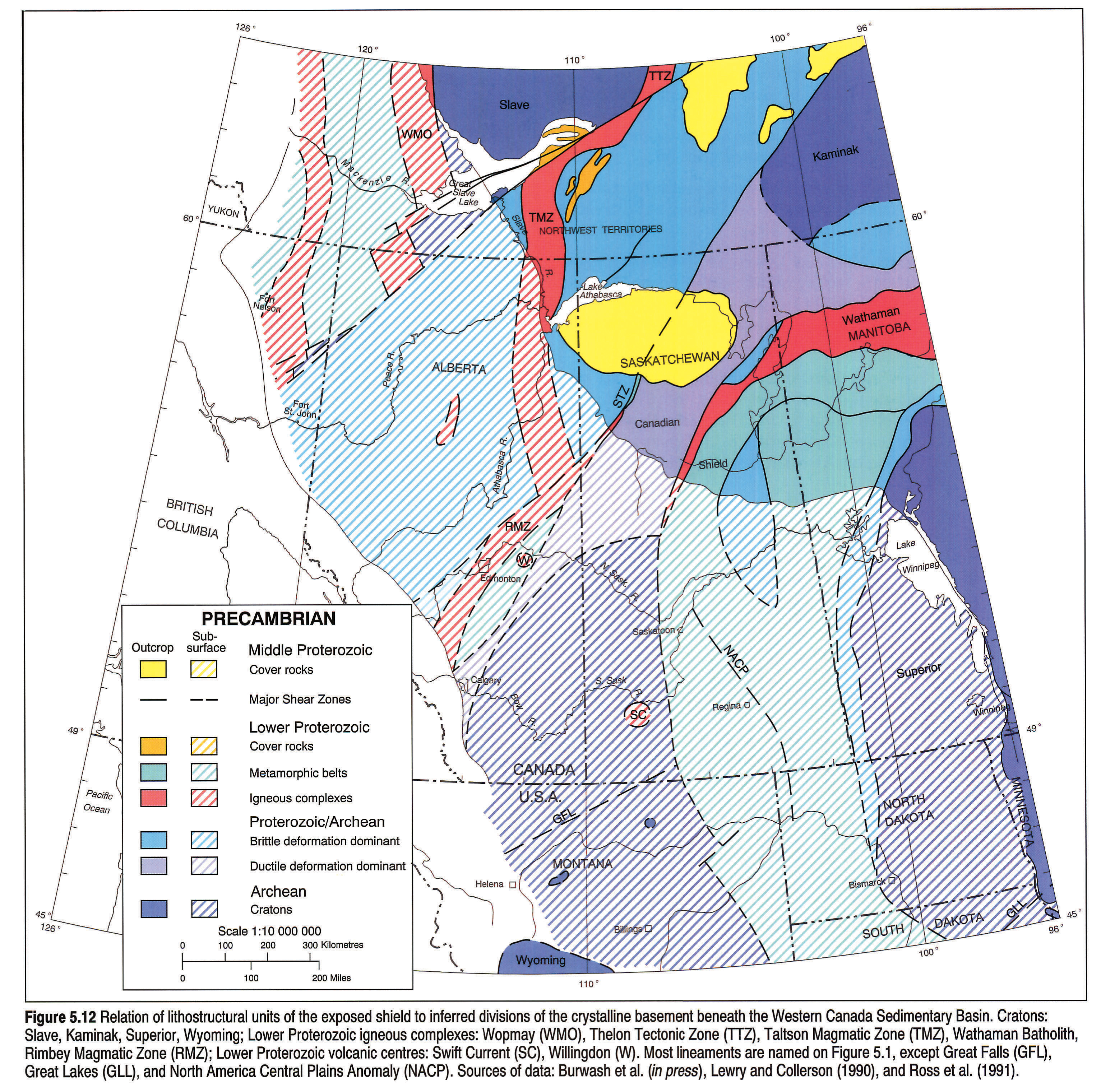 West Of Canada Map.Atlas Of The Western Canada Sedimentary Basin