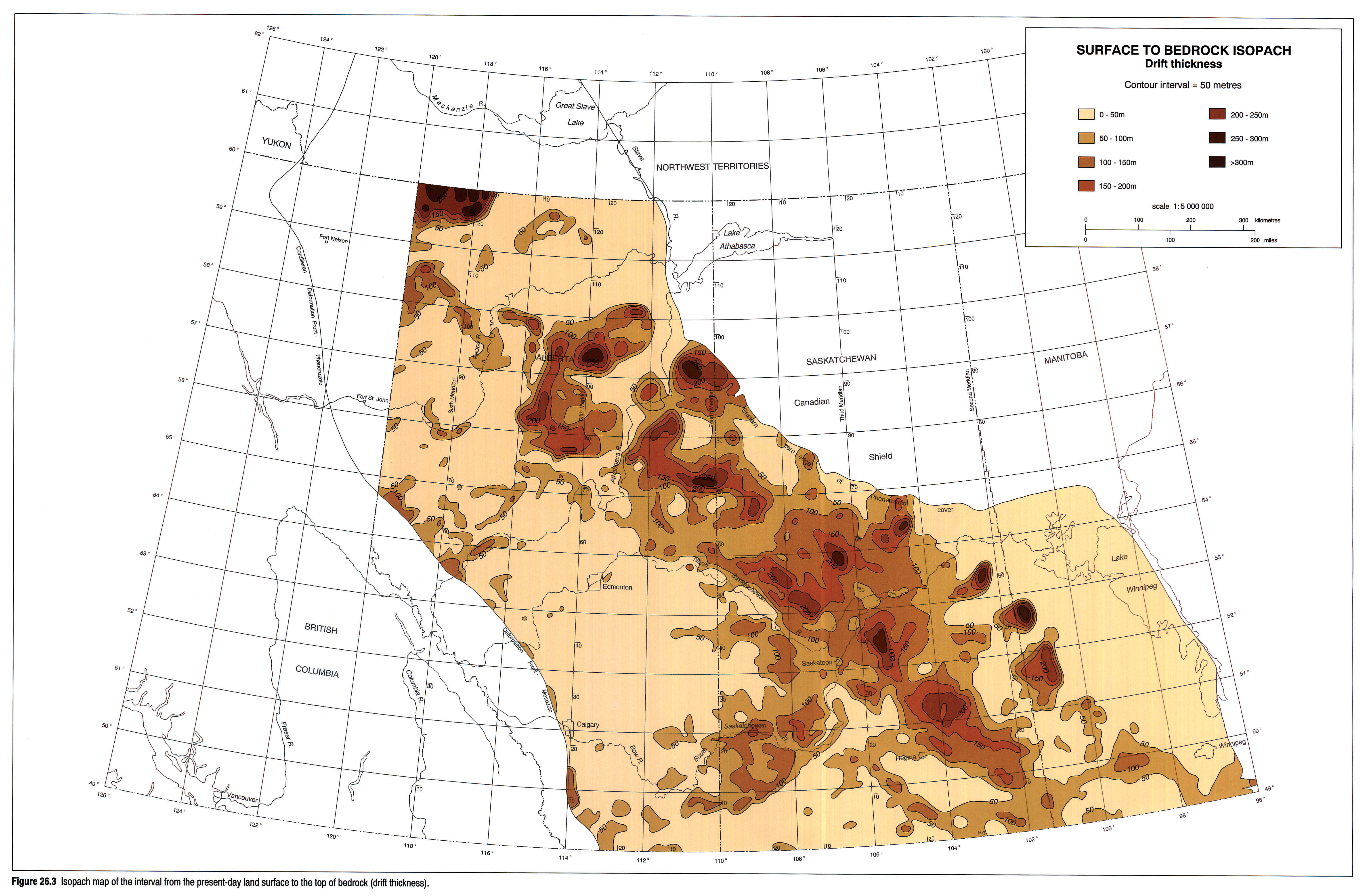 Chapter Quaternary Geology Of The Western Plains - Map of southern saskatchewan canada