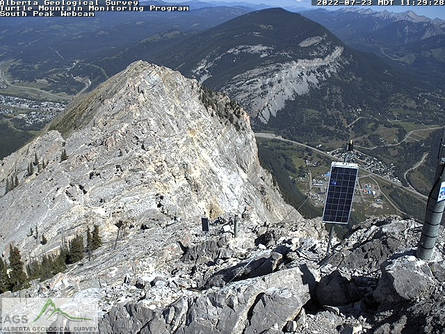 Webcam image from the South Peak camera